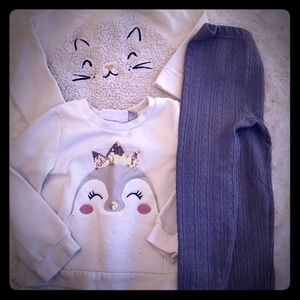 The Children's Place Matching Sets - Sweatshirts and fleece cable knit leggings